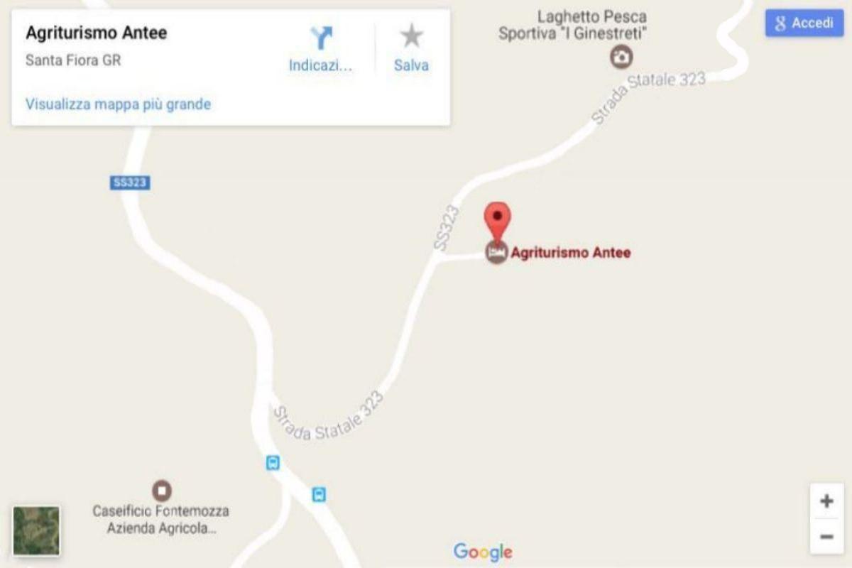 cartina mappa agriturismo antee