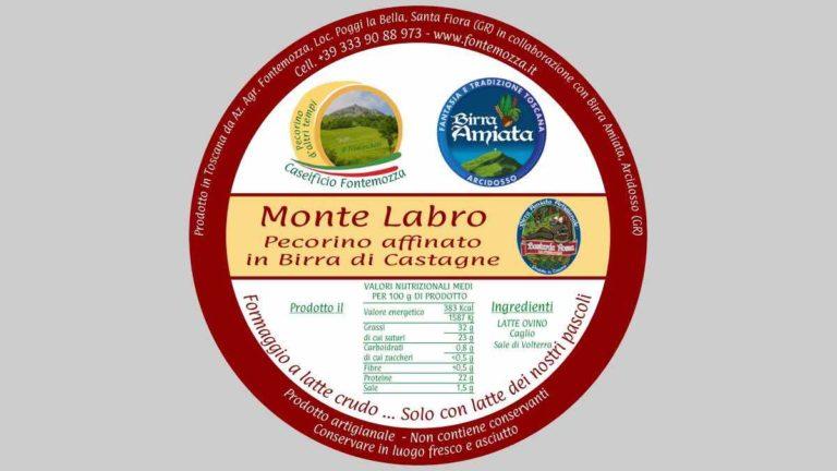 a etichetta pecorino birra castagne caseificio fontemozza