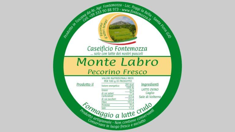 etichetta pecorino fresco caseificio fontemozza