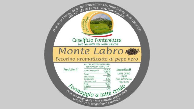 etichetta pecorino pepe caseificio fontemozza