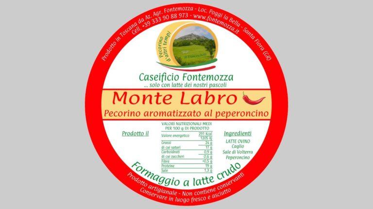 etichetta pecorino peperoncino caseificio fontemozza