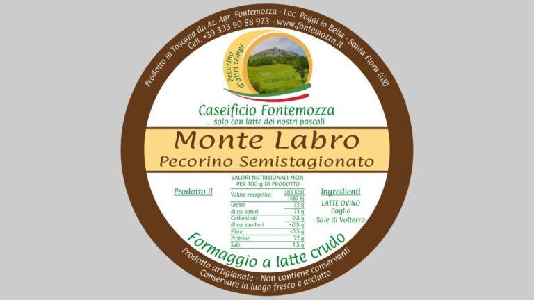 etichetta pecorino semistagionato caseificio fontemozza