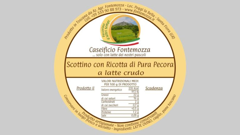 etichetta scottino caseificio fontemozza