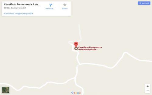 mappa caseificio fontemozza